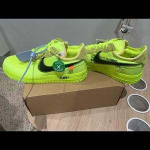 Off White Shoes Nike Air Force 1 Low Offwhite Volt Poshmark